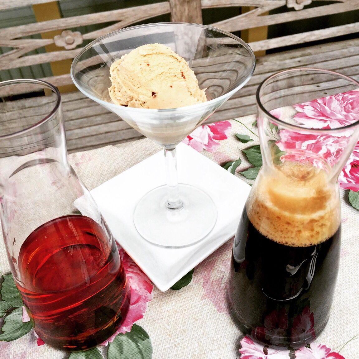 Cinnamon ice cream , amareto n espresso
