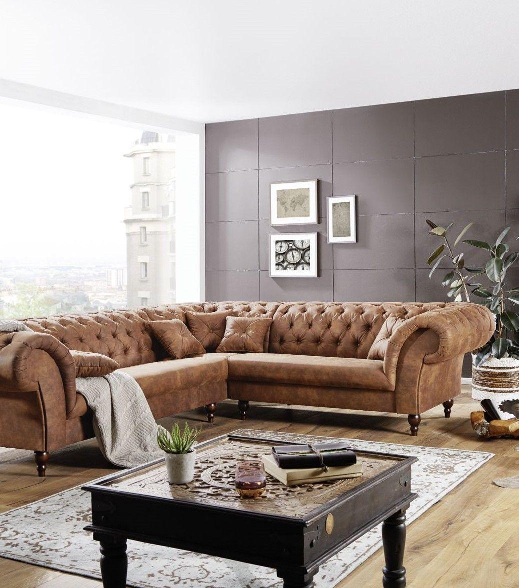 Sofa 284x251x77 Cognac Preston In 2020 Möbel