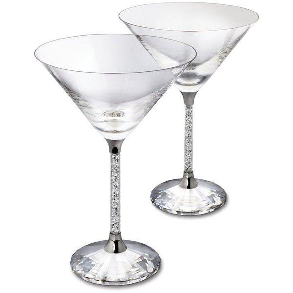 Swarovski Crystal Cocktail Glasses Model Ref 626602 ❤ liked on Polyvore