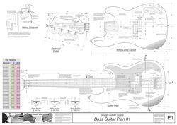 bass electric guitar plans 1 electronic version guitar plans pinterest bass guitars and. Black Bedroom Furniture Sets. Home Design Ideas