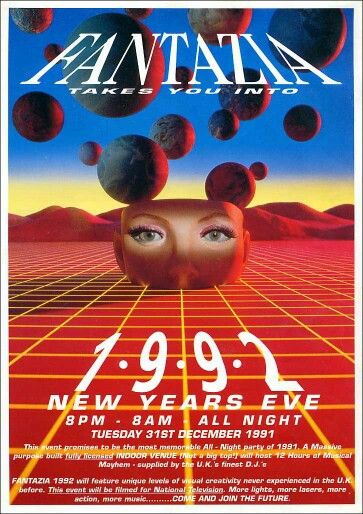 New year 1992 flyer