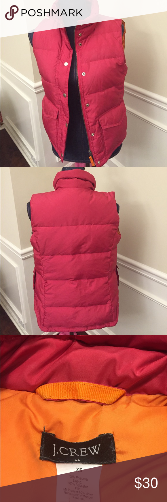 J crew👍 Pinkish color used one time in great condition jcrew Jackets & Coats Vests