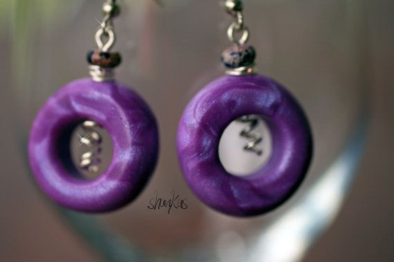 Polymer Clay Earrings  WEARABLE ART by shankas on Etsy, $15.00