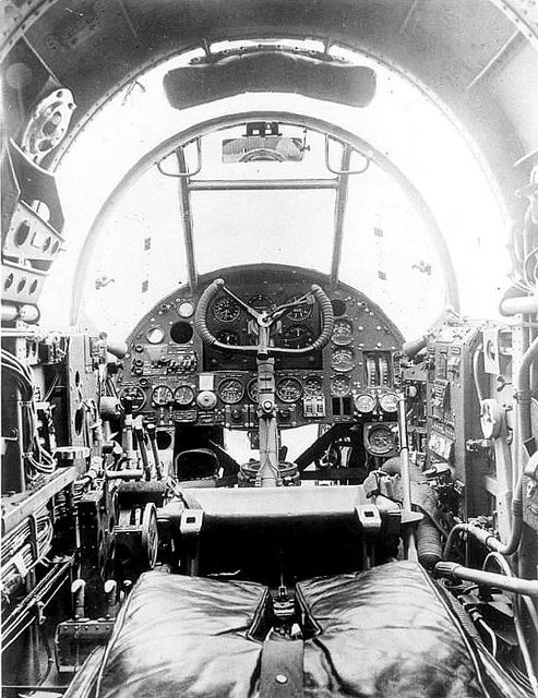 Cockpit of a Handley Page Hampden.