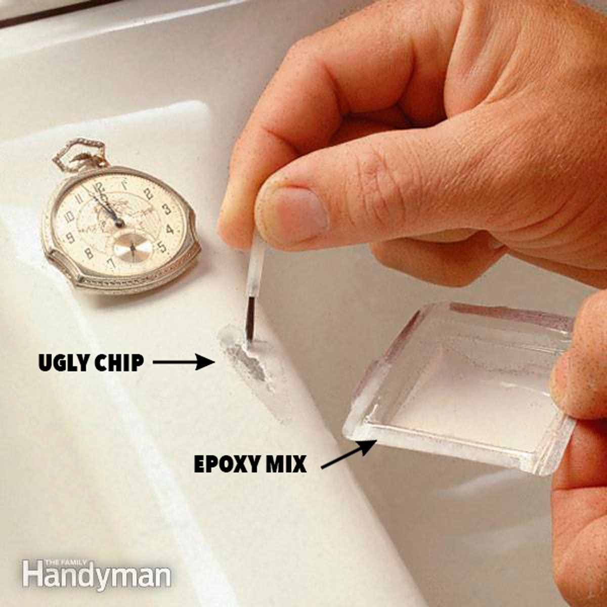 How To Fix A Chipped Sink Sink Repair Home Improvement Projects Repair