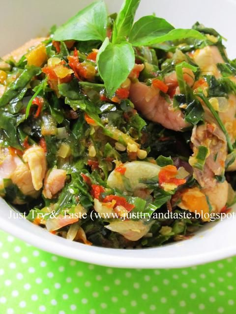 Just Try Taste Ayam Masak Leilem Daun Melinjo Resep Ayam Resep Resep Masakan Indonesia