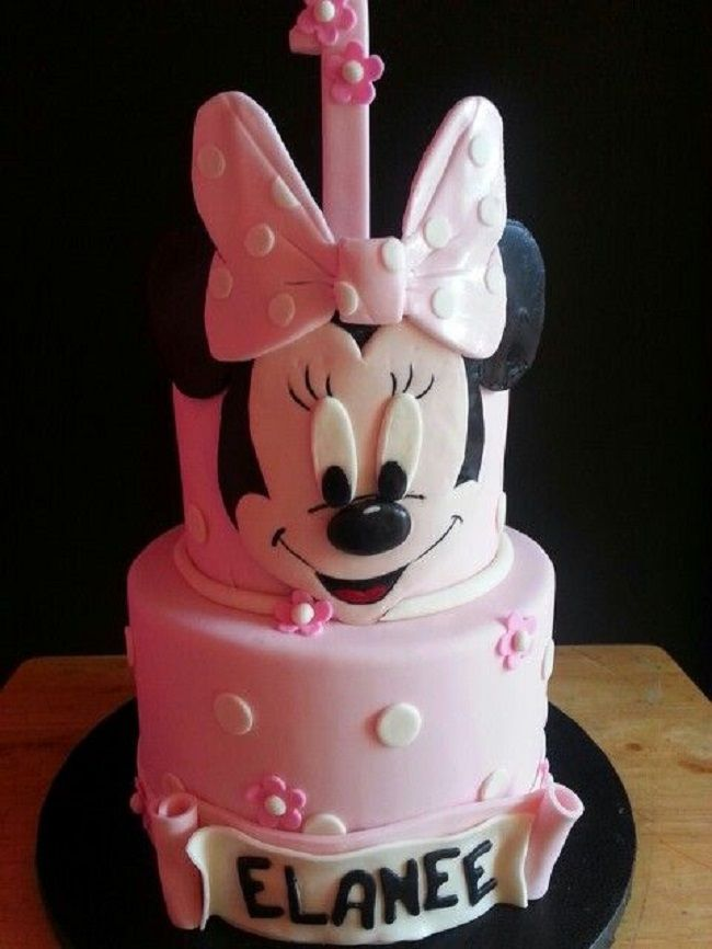 Amazing Minnie Mouse 1St Birthday Cake New Cake Ideas With Images Personalised Birthday Cards Veneteletsinfo