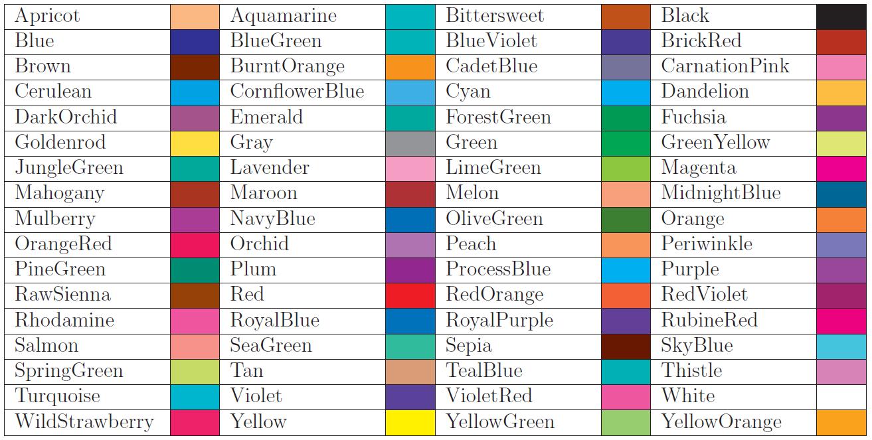 Nombres de colores chic color colorful fashion y - Nombres de colores de pinturas ...