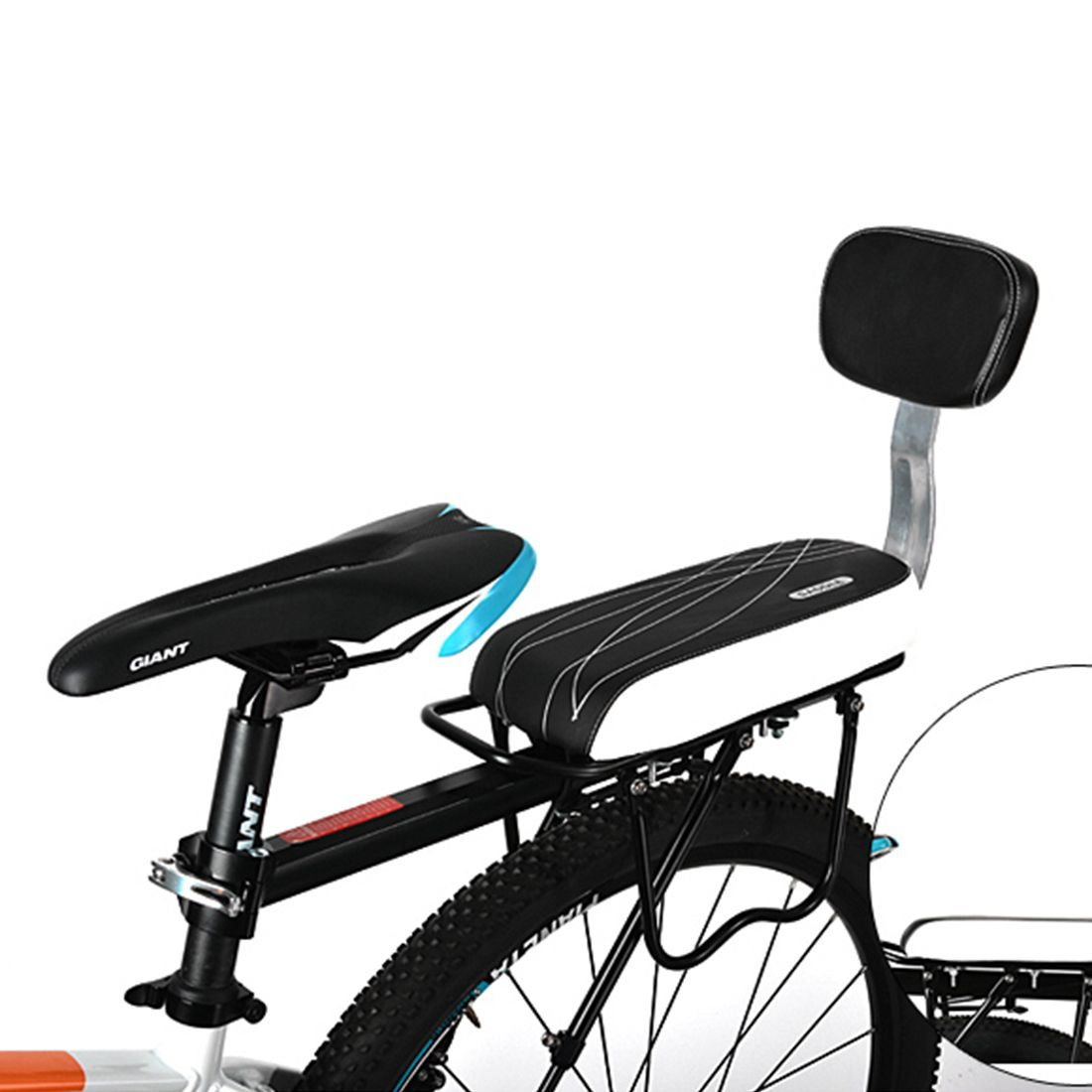 Baby chair on bike - Bicycle Child Seat Pu Leather Cover Bike Rack Cushion For Kid S Bicycle Seat