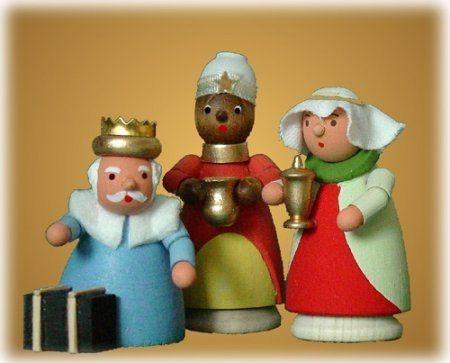 Erzgebirge German Wood Miniature Three Wise Men