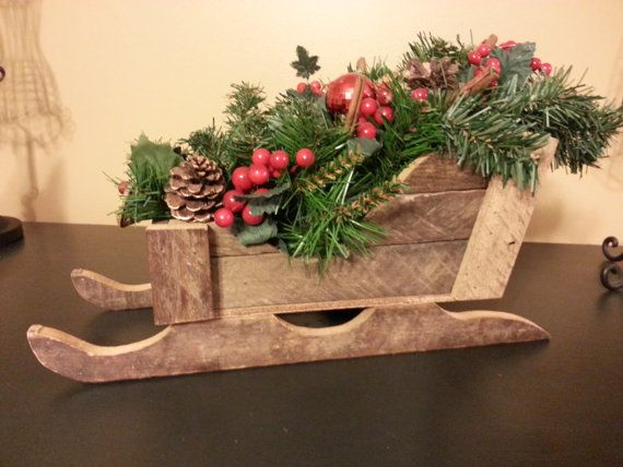Your Place To Buy And Sell All Things Handmade Christmas Wood Crafts Wooden Sleigh Wooden Sleigh Decor