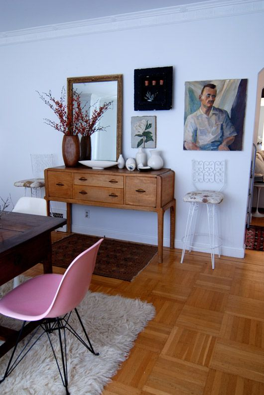 Not sure about the rest of the stuff, but that pink Eames chair needs to come live at my house. Just saying...