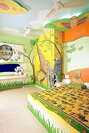 Another Cute Animal Theme Jungle Safari Bedding Kids Room