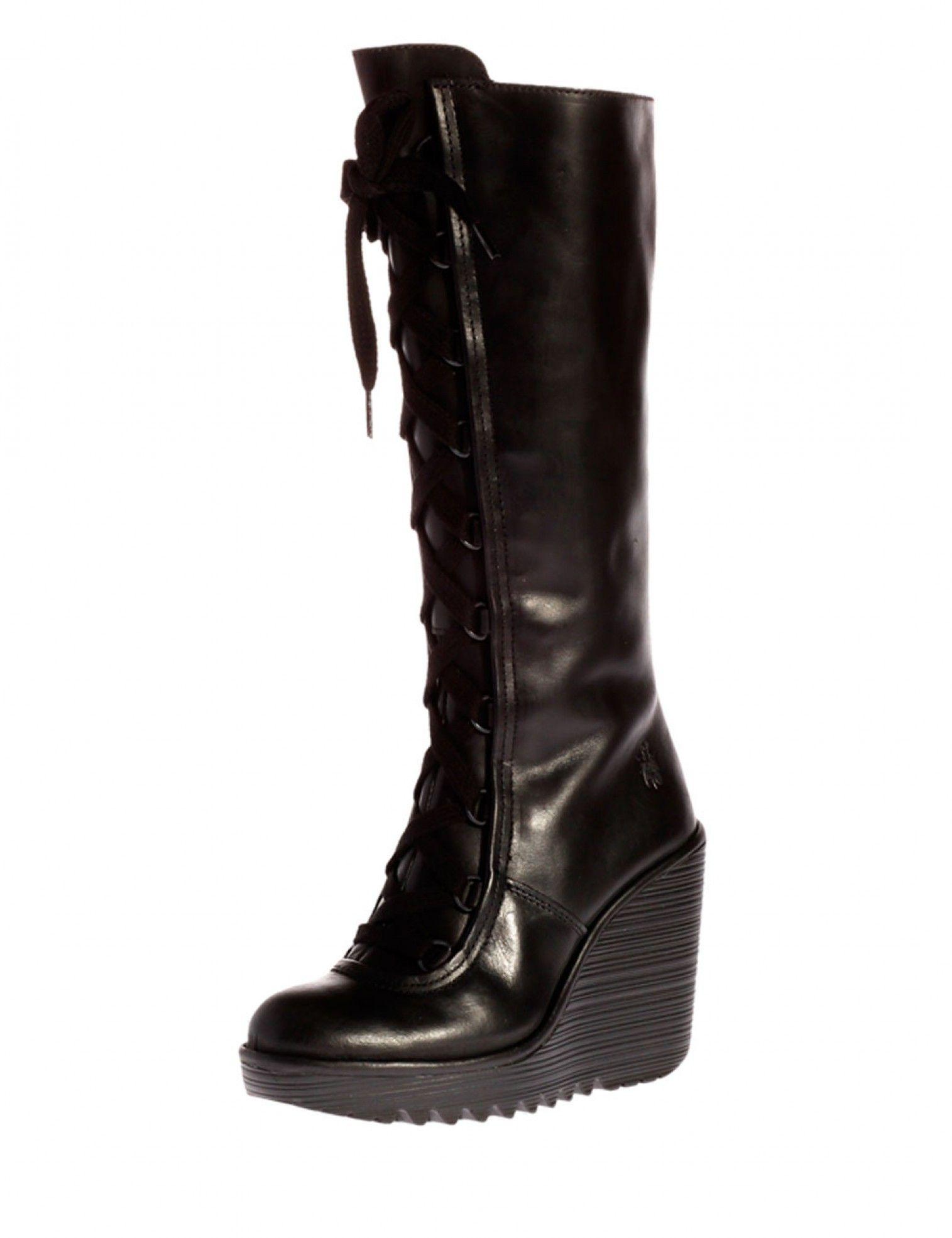 Lederart Glattes Rug Leder Farbe Schwarz Black Absatzhöhe 10cm Schuhe Leder Schwarz