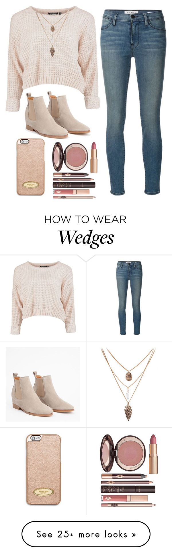 """Untitled #272"" by cbkindt on Polyvore featuring moda, Frame Denim, MICHAEL Michael Kors e Charlotte Tilbury"