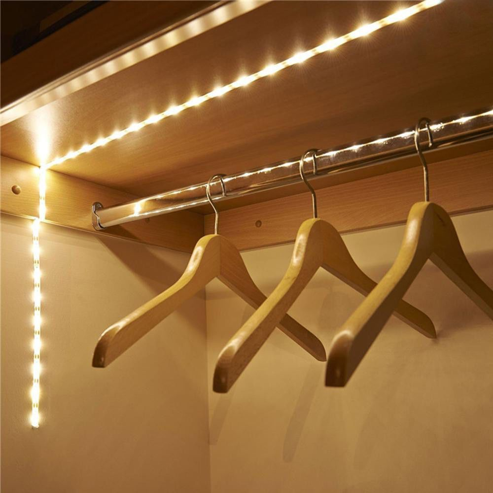 Battery operated m led strip light wireless pir motion sensor