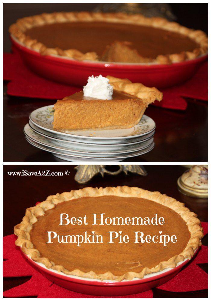 Super Easy And Part Homemade Pumpkin Pie Recipe Recipe Homemade Pumpkin Pie Pumpkin Pie Recipes Desserts