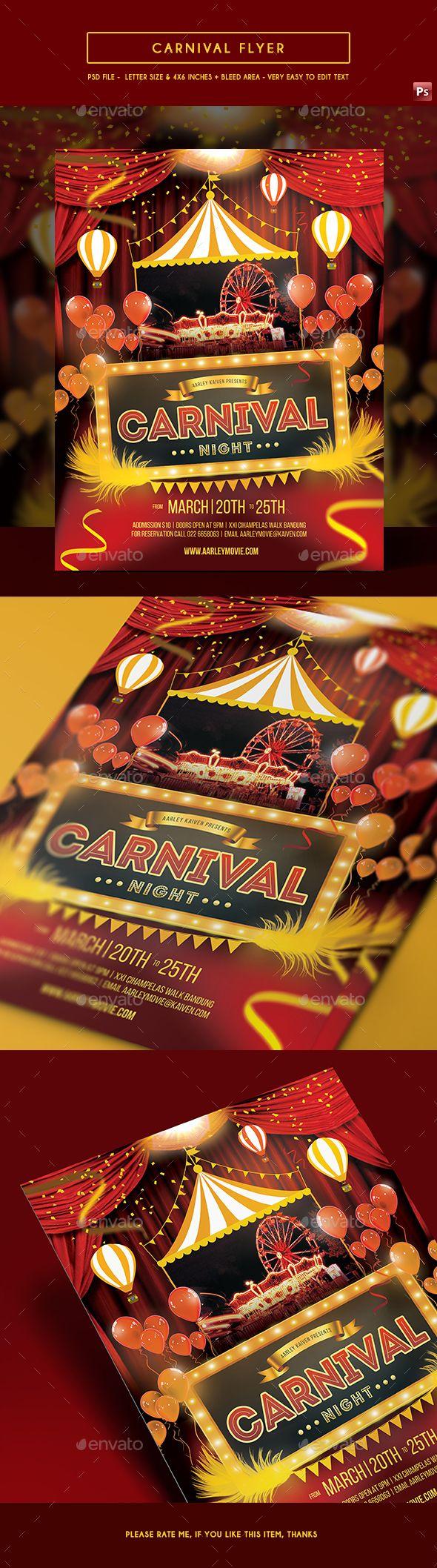 Carnival Flyer | Pinterest | Paisajes