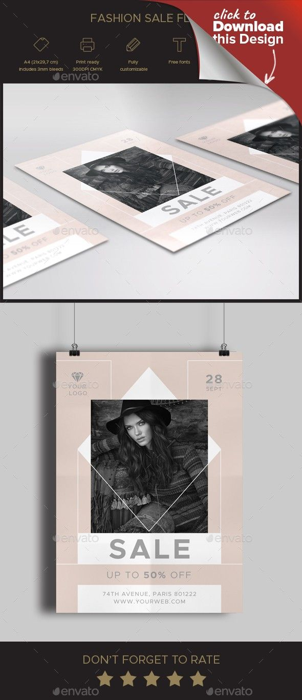 Fashion Sale Flyer Pinterest Sale Flyer Print Templates And