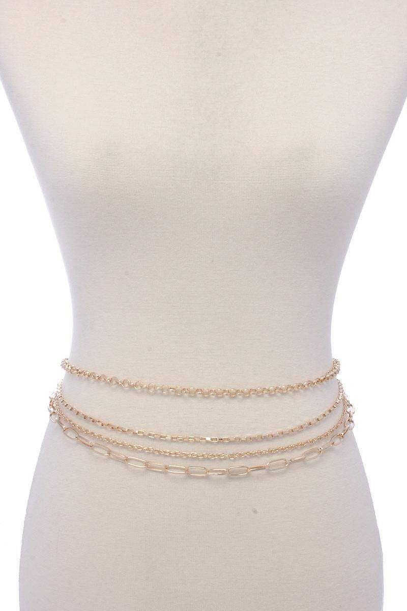 Multi chain belt, Silver in 2020 | Belts for women, Chain