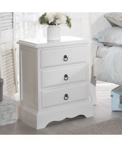 Romance antique white furniture bedroom direct romantic online romance bedside table stunning white bedside cabinet with 3 drawers assembled antique white watchthetrailerfo