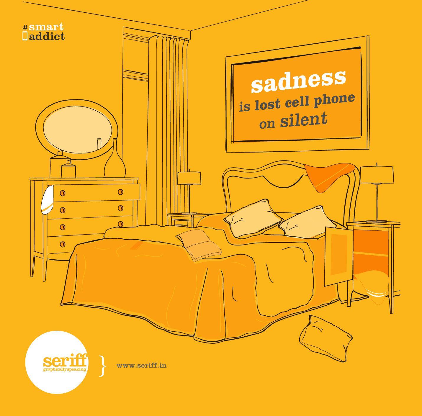 #smartaddict #smartphones #cellphones #socialmedia #sadness #silent #obsession #graphicdesign #Seriff