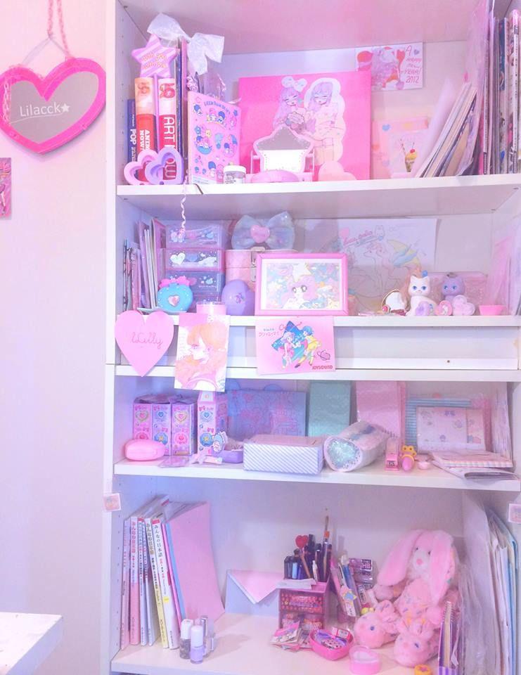 Kawaii Pastel Shelf Room Ideas Pinterest Rhpinterest: Kawaii Bedroom Decor At Home Improvement Advice