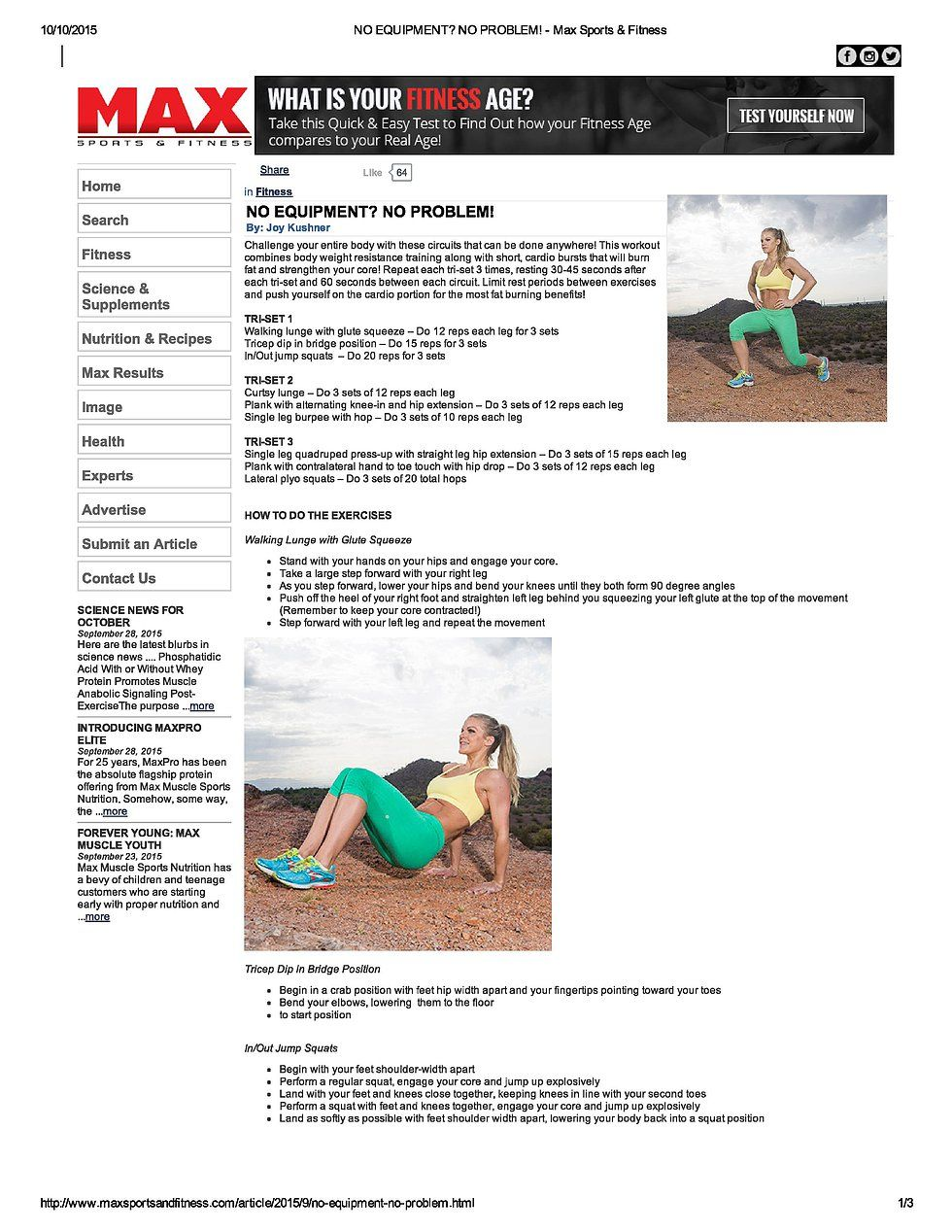 Pin by Joy Personal Training on JOY Published Work At