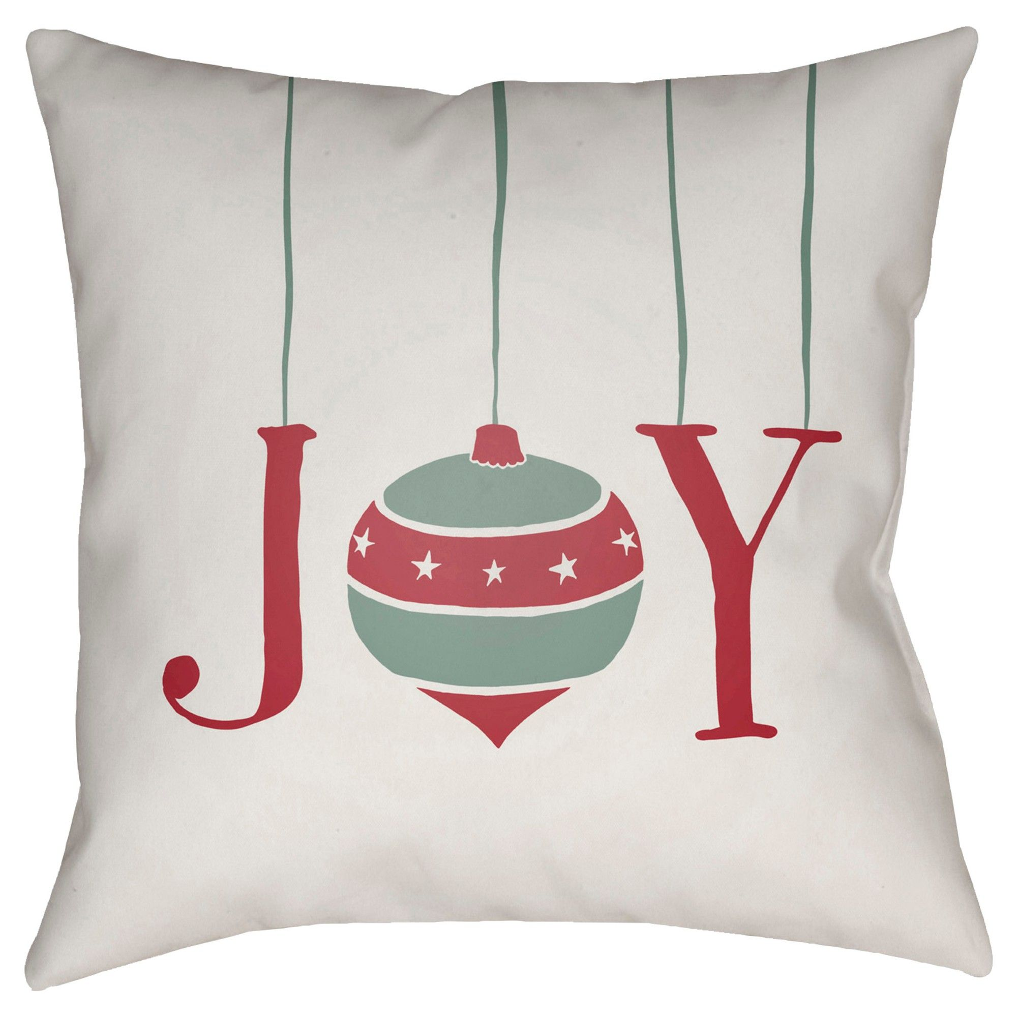 """White Joy Throw Pillow 20""""x20"""" Surya Throw pillows"""