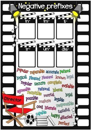 Negative Prefixes In Im Il Ir Un Dis Prefixes Prefix Worksheet Root Words Activities Prefixes im and in worksheets