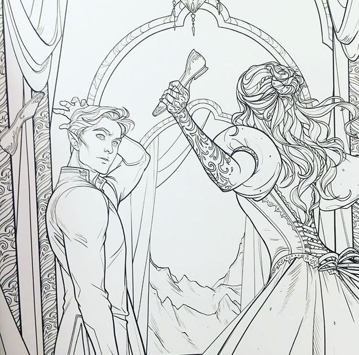 a court of thorns and roses coloring book vk