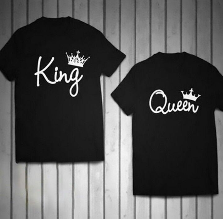 BIG MAN St Valentine Couples outifit matching Shirt King Queen Streetpunk Tshirt