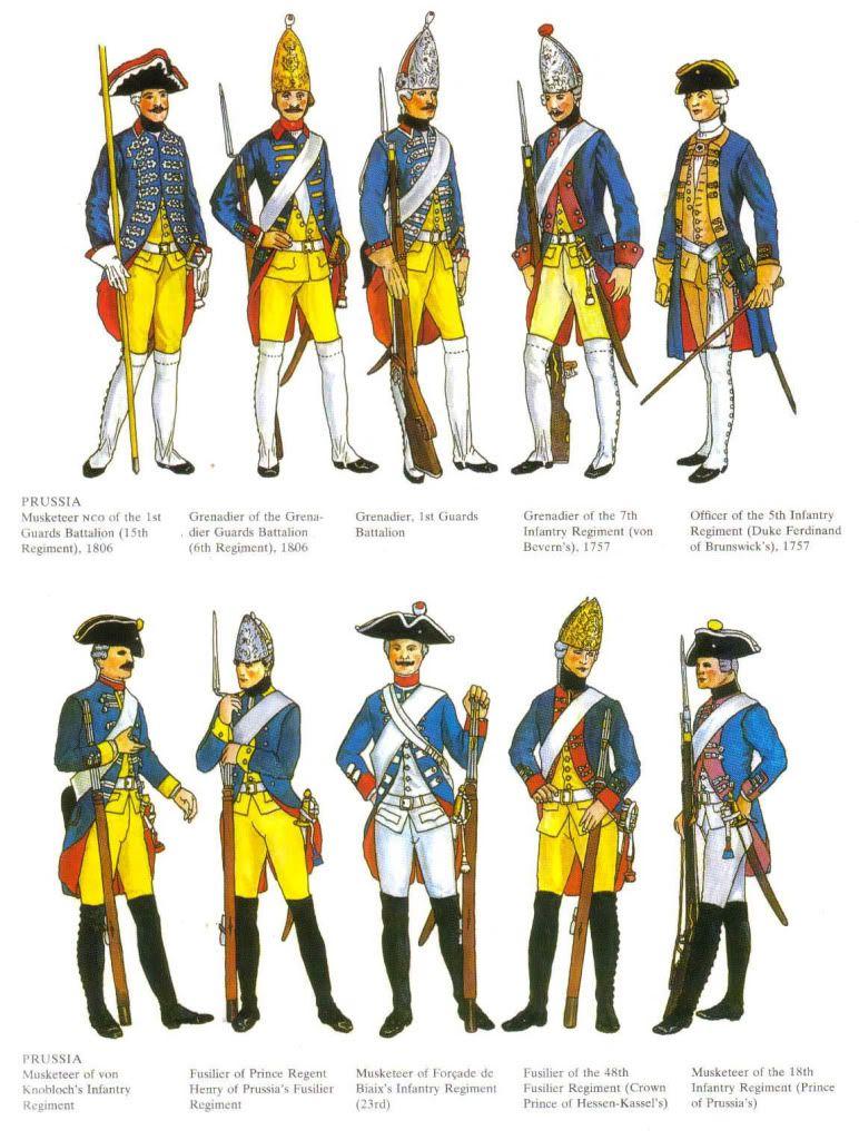 18th Century Military Uniforms | Saraband | Military costumes, Seven