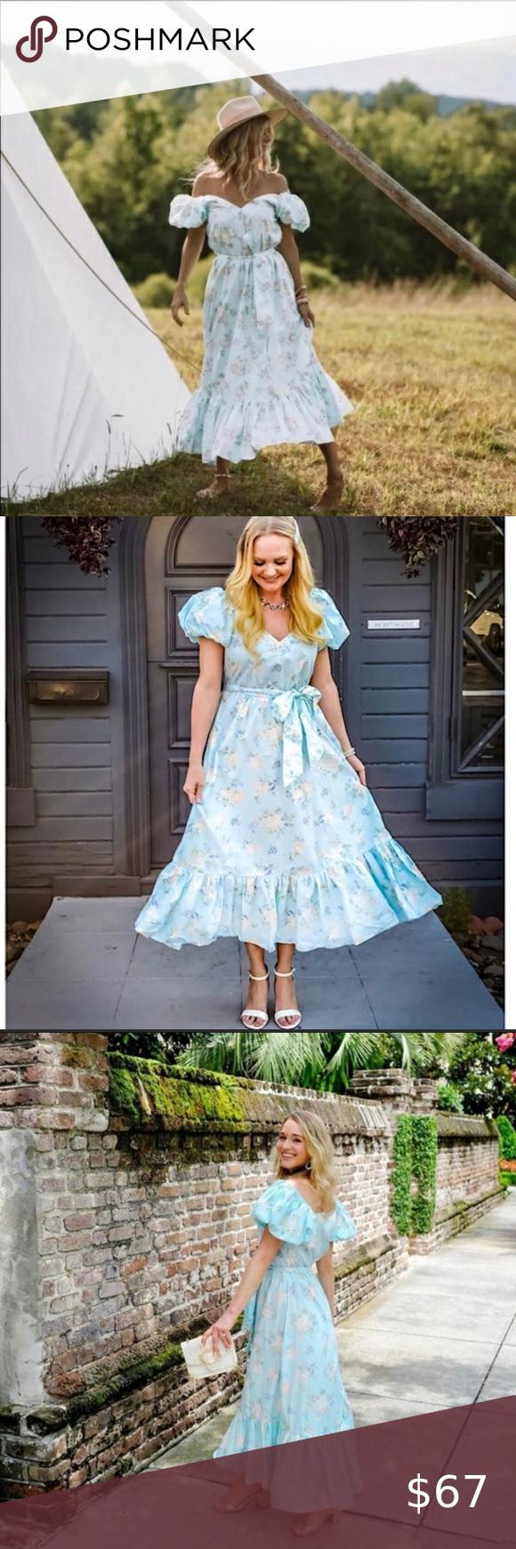 Loveshackfancy Target Estelle Blue Floral Dress Floral Blue Dress Whimsical Fashion Fancy Maxi Dress [ 1740 x 580 Pixel ]