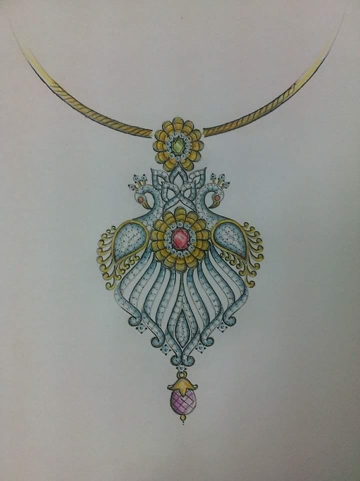 Manual Design Jewellery Sketches Jewelry Design Drawing