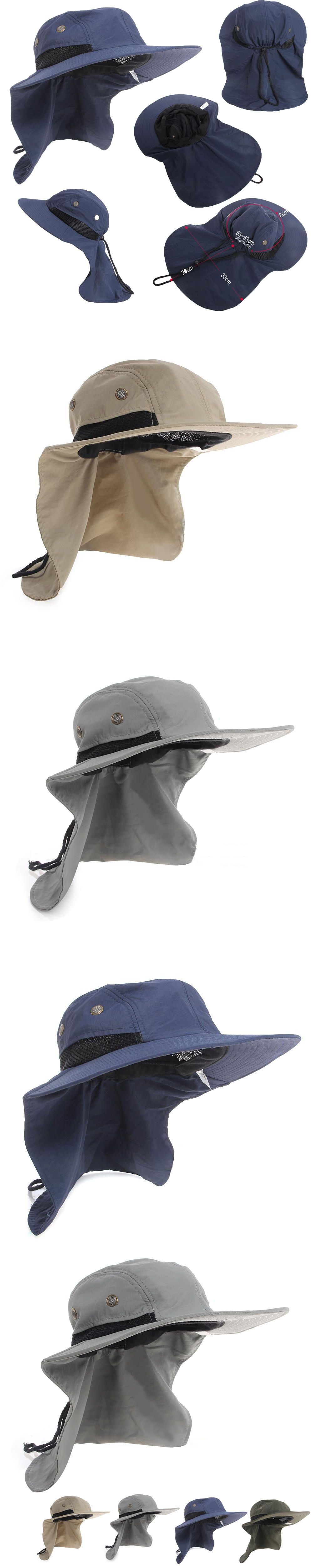 5d72f21a80c Hot Summer New Function Neck Flap Boonie Hat Fishing Hiking Safari Outdoor  Sun Brim Bucket Bush