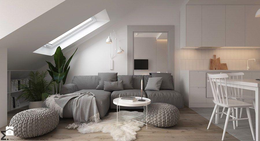 Aranżacje wnętrz - Salon Apartament Praska Park - Salon, styl