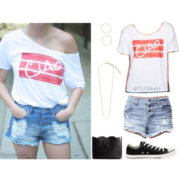 """Ciao! Ellie tee"" by tsjgbrand on Polyvore"