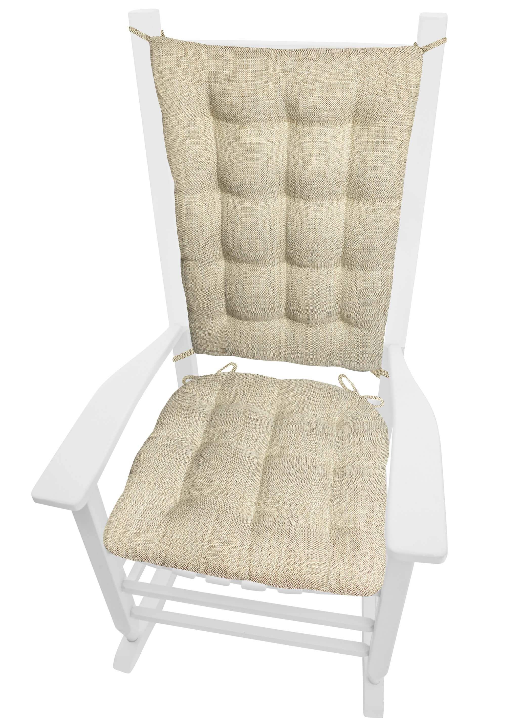 Excellent Handsome Natural Tweed Rocking Chair Cushion Latex Foam Uwap Interior Chair Design Uwaporg
