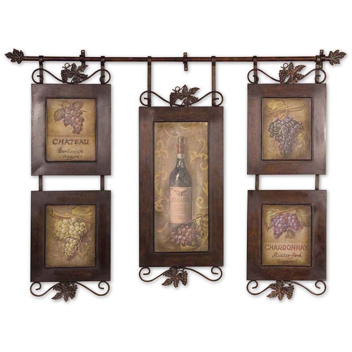 Uttermost hanging wine framed art green with envy