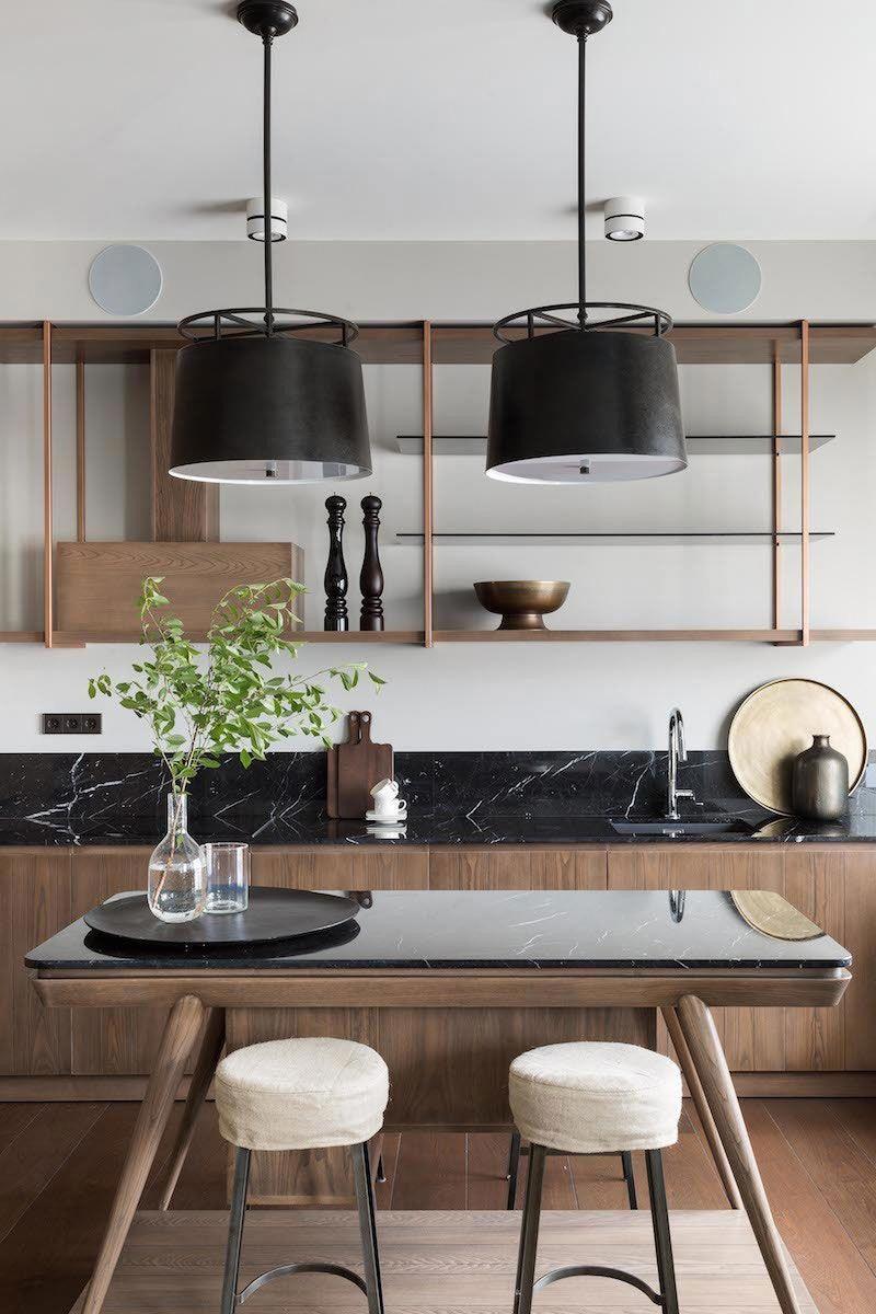 Modern Apartment With Classic Touches In Moscow Pufik Beautiful Interiors Online Magazine Kuchendesign Modern Innenarchitektur Kuche