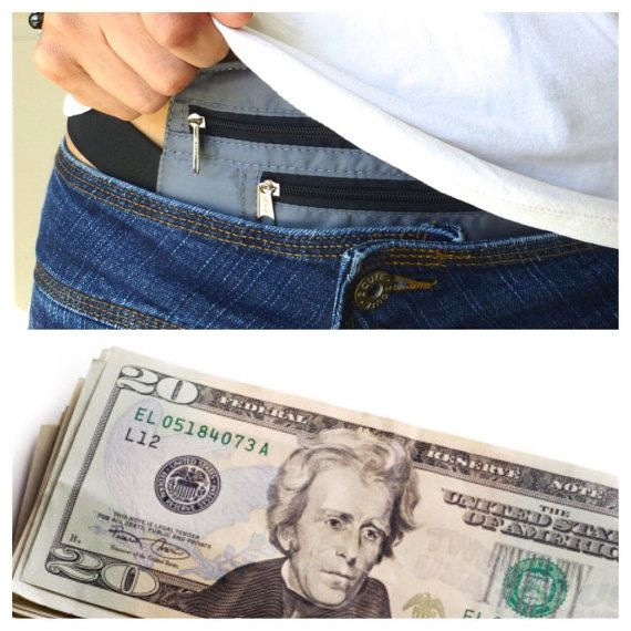 Money Security Safety Waist Belt Wallet Pouch Bum Bag Travel Passport Holder AL