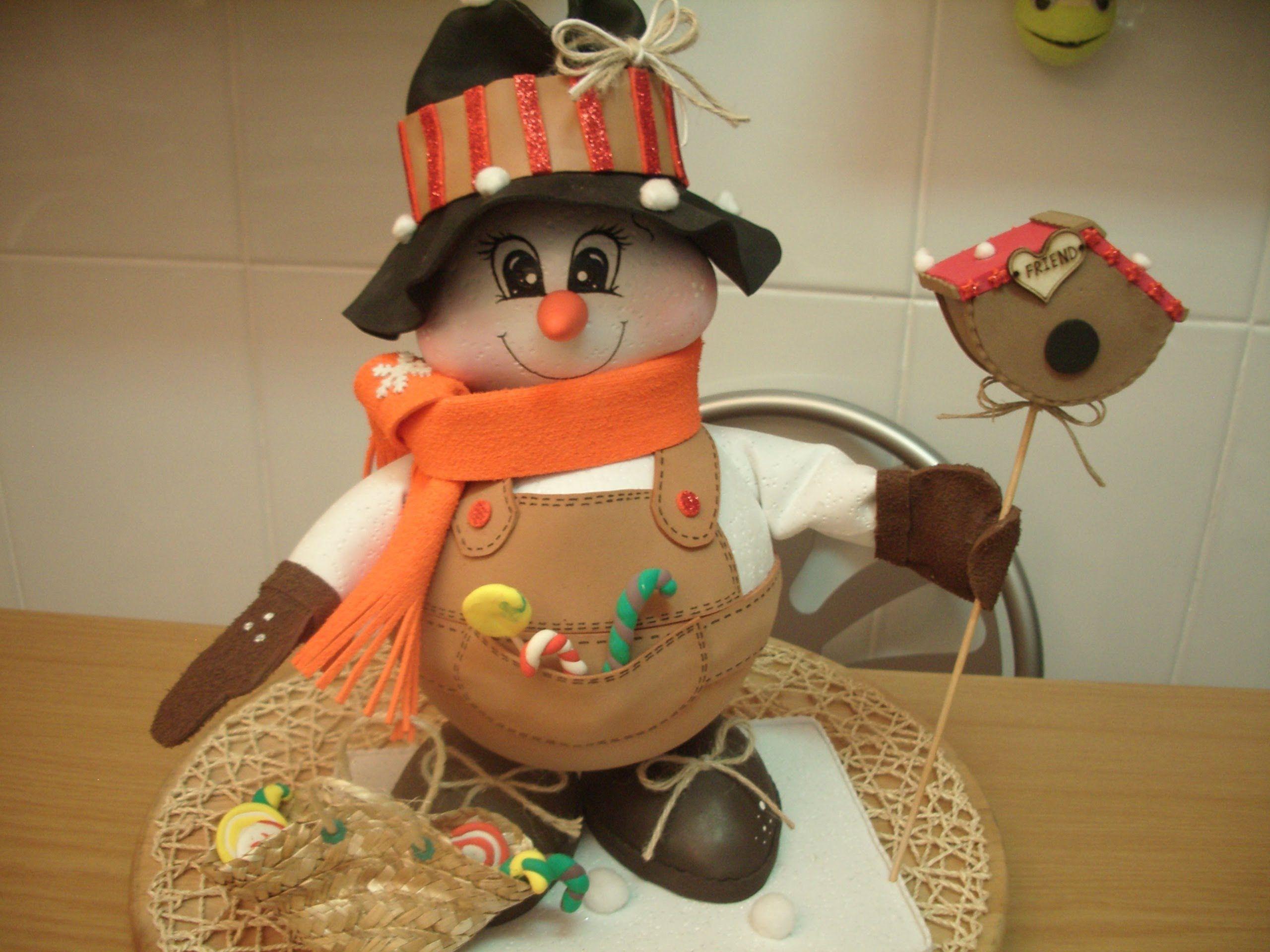 Video mu eco navidad como hacer fofucho mu eco de - Munecos de navidad ...