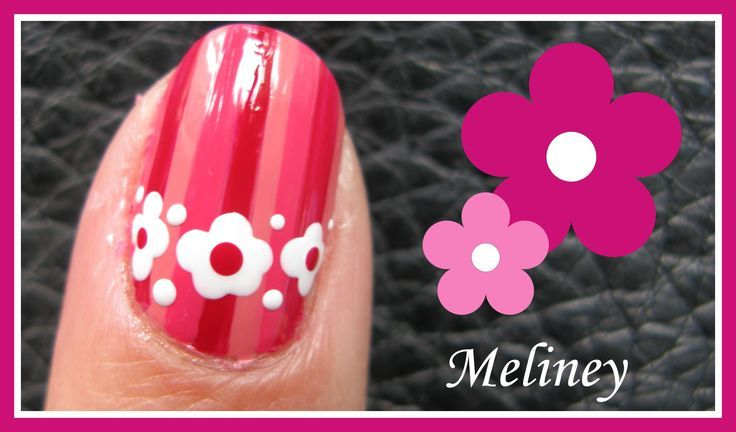 awesome PINK STRIPES AND FLORAL BAND NAIL ART DESIGN TUTORIAL FOR ...