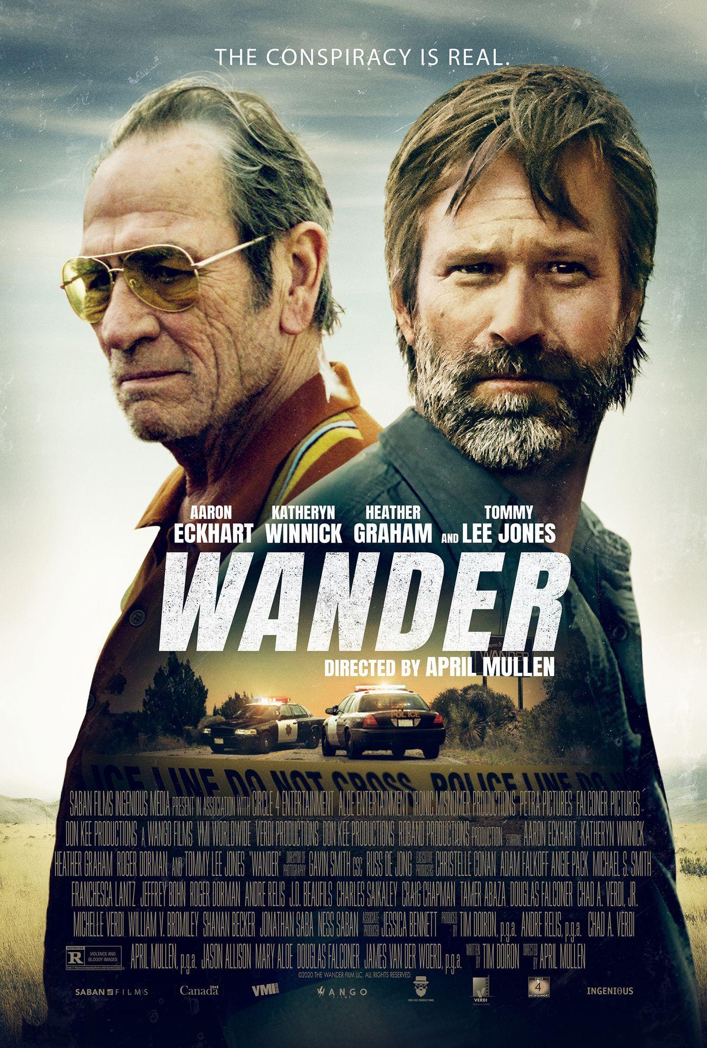 Wander Film Starring Aaron Eckhart Heather Graham Katheryn Winnick And Tommy Lee Jones In 2020 Tommy Lee Jones Heather Graham Katheryn Winnick