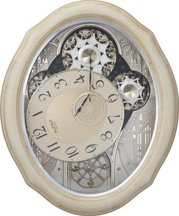 Rhythm Small World Musical Wall Clocks Rhythm Clock Ivory Cottage Musical Wall Clock 4mh873wu03 Rhythm Clocks Rhythm Clocks Wall Clock Clock