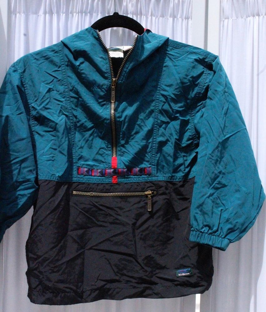 e0999fe1c00c Vintage L.L. Bean 1 2 Zip Hood Anorak Aztec Windbreaker Child Jacket Size  Small  LLBean  BasicJacket  Everyday