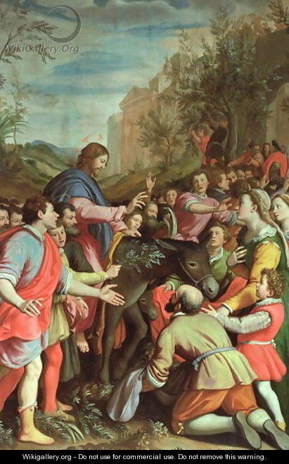 The Entry of Christ into Jerusalem - Santi Di Tito