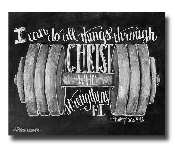 Philippians 413 I Can Do All Things Chalkboard Art by TheWhiteLime, $17.00