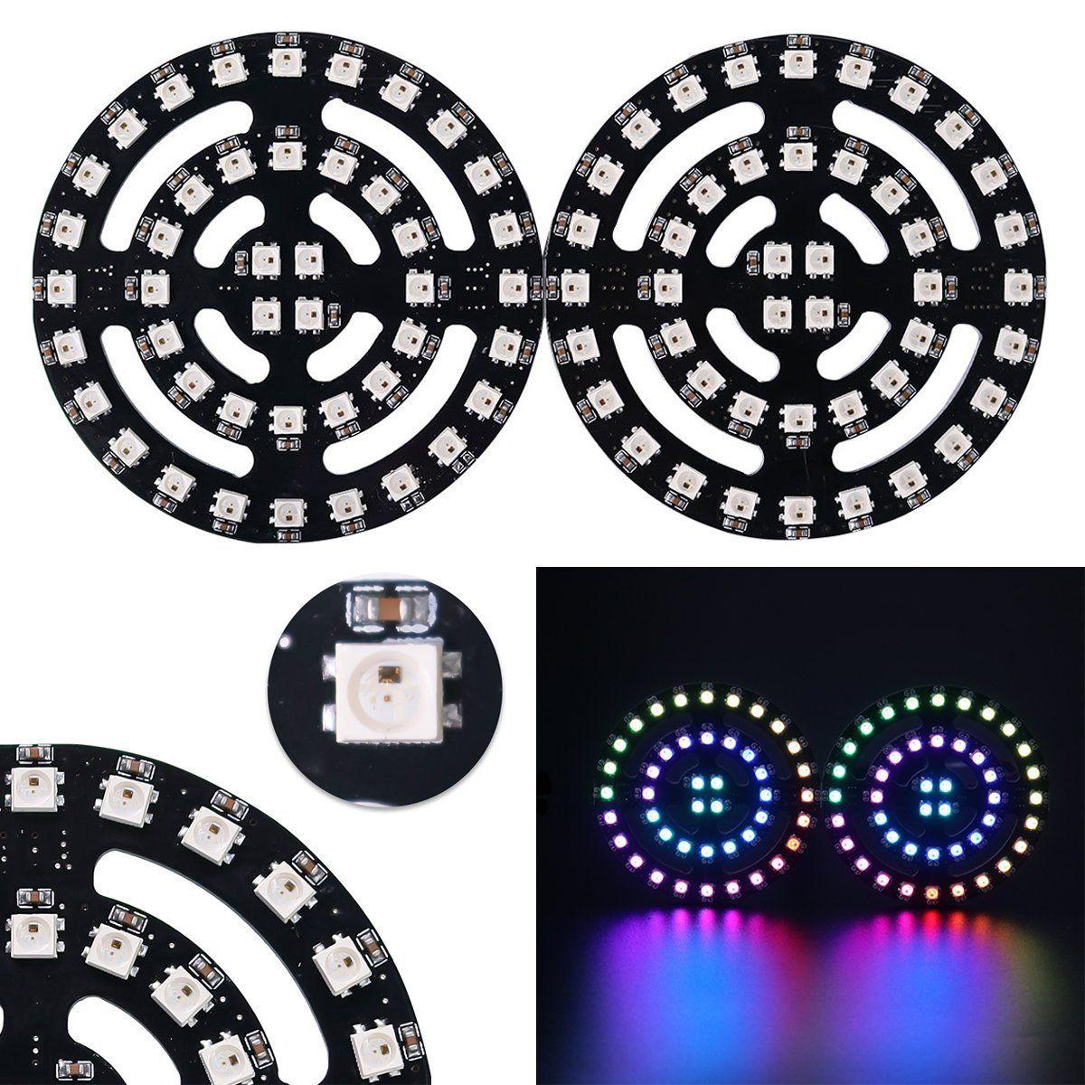 Integrated Drivers Addressable 1 8 12 16 24 32 Bits RGB LED Ring 5050 WS2812B